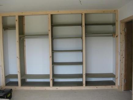 шкаф из гипсокартона фото
