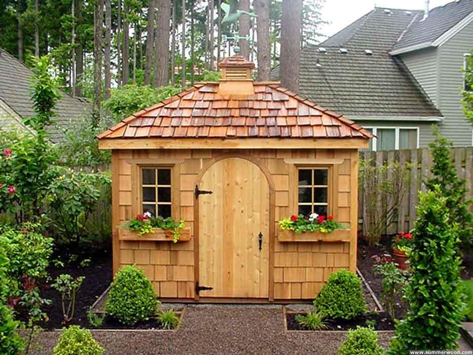Как сделать садовой домик